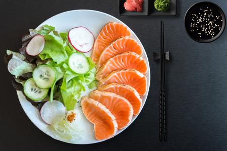 sashimi,  nigiri, sushi rolls and sashimi