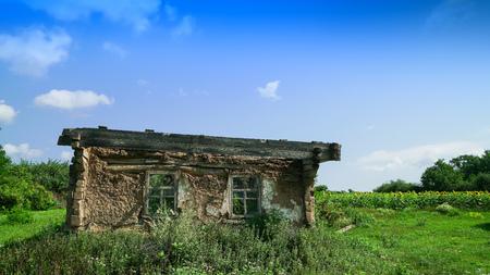 Old abandoned house in Chernobyl. Pripyat Stok Fotoğraf