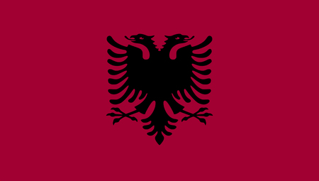 Vector of amazing albania. National flags of world country turning Stock Photo