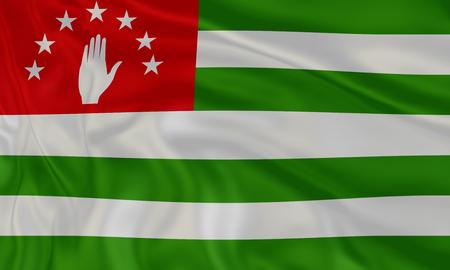 Illustration of amazing Abhkazia flag. National flags of world country turning