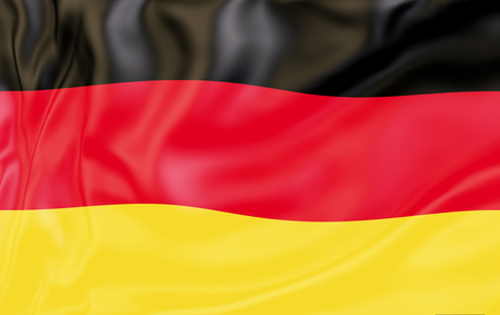 Flag of Germany. National flags of world country turning Foto de archivo