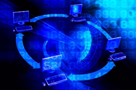 Abstract bigdata background. Big data illustration digital information. Data stream. Concept of Network, internet communication