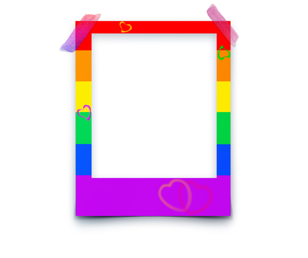 Photo frames with space for text and soft shadow isolated on white background. P Illustration Imagens