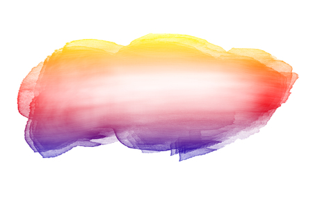 Creative horizontal banner from watercolor brush. Colorful vector watercolor brush strokes isolated on white background.