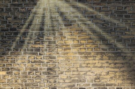 Old stone wall background. Background with Old Vintage Dirty Brick Wall, Texture. Shabby Building Facade Banque d'images - 133067344