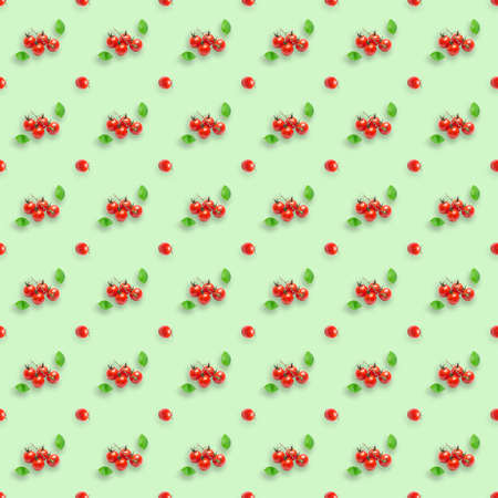 Seamless photographic pattern with tomato. Fresh tomato seamless photographic pattern. Tomato wallpaper.