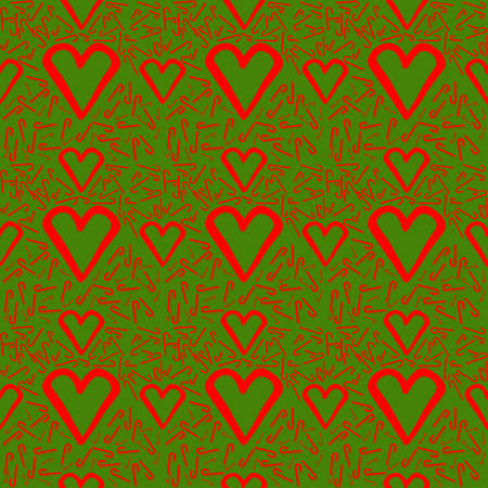 Christmas and Happy New Year Seamless Pattern of Candy Cane. Endless texture for gift wrap, wallpaper, web banner background, wrapping paper and fabric pattern