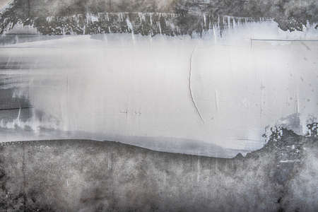 Construction background. Gray concrete wall with white putty. Archivio Fotografico