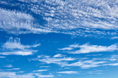 Blue sky with clouds. Natural background 写真素材