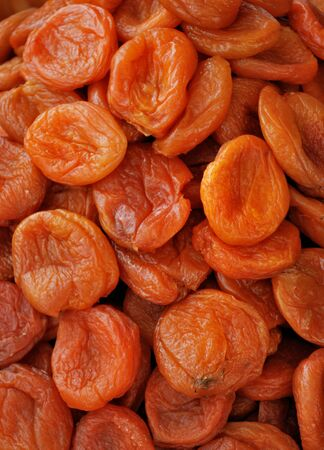 dried up: Dark dried apricots close up