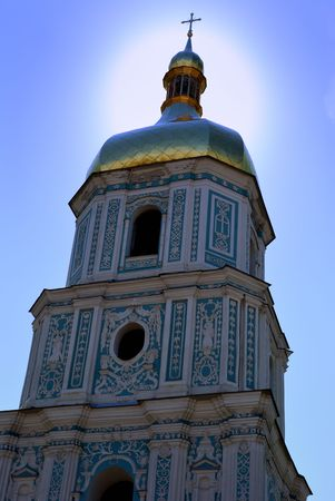 annunciation: Sainted Sofia. A detail of the Sofia cathedral is in Kiev