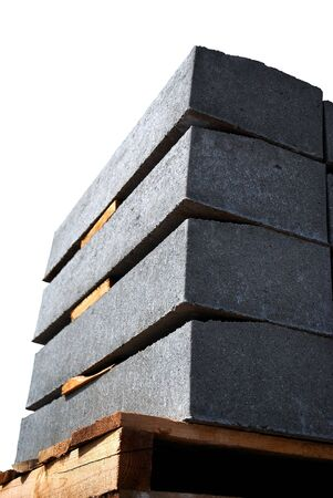 concrete panels, prepared to setting on building Stock Photo - 3025380