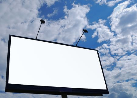 clean empty billboard on a background beautiful sky Stock Photo - 3134428