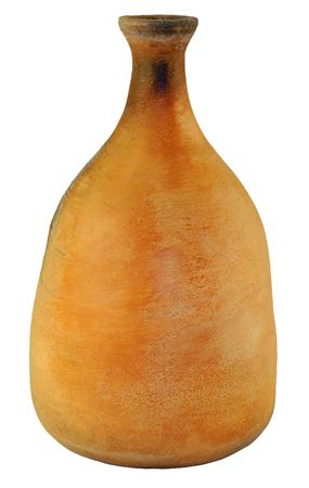 bring: Terracotta brown age-old clay vessel close up Stock Photo