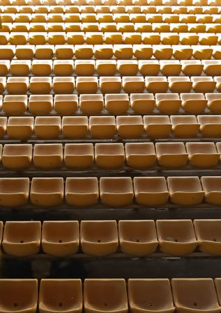football stadium background in light and shadow Stock Photo - 3313520