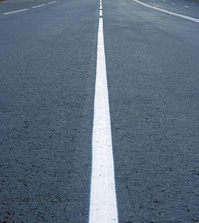 dividing: asphalt road line,  dividing lines on the highway Stock Photo