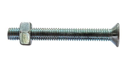 close ups of bolt and nut on white Stock Photo - 3550236