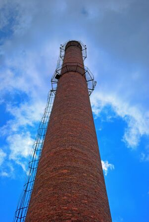 urban chimney-stalk on a background cloudy sky Stock Photo - 3563996