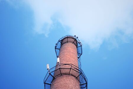 urban chimney-stalk on a background cloudy sky Stock Photo - 3563976