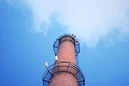 urban chimney-stalk on a background cloudy sky Stock Photo - 3563976