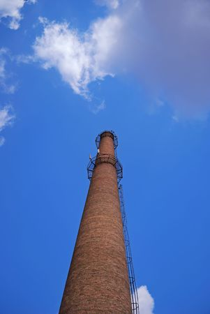 urban chimney-stalk on a background cloudy sky Stock Photo - 3563991