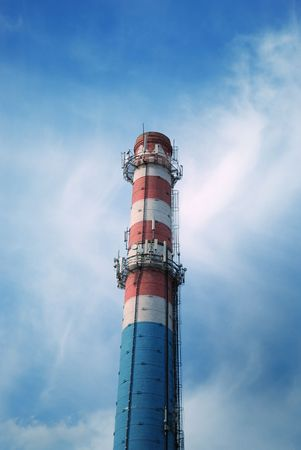 urban chimney-stalk on a background cloudy sky Stock Photo - 3794571