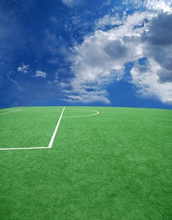 football grass background in light and shadow Stock Photo - 3936778