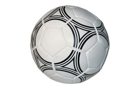soccer ball close up, isolated on a white background Stock Photo - 3936650