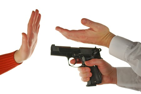 hoodlum: language of fingers: female hand - refuse, male hand - invitation, male hand with a pistol - threat