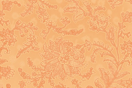 vegetable decorative pattern in Indian style on fabric photo