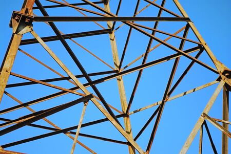 details of steel constructions on a background a serene Stock Photo - 4169439