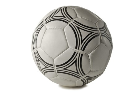 soccer ball close up, isolated on a white background Stock Photo - 4168553