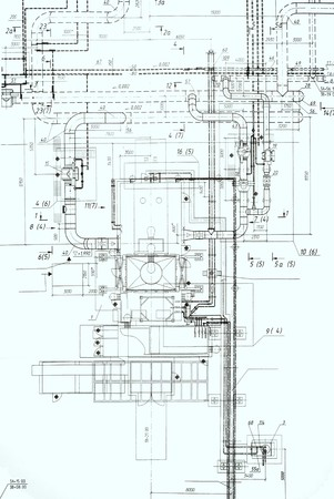 A set of architectural construction document, engineering background