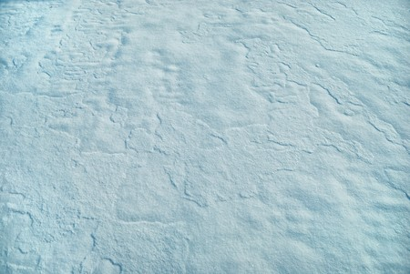 arctic waters: Ice crust, structure of the snow brought down by a wind Stock Photo