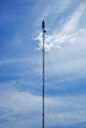 electromagnetic radiation: Mobile phone antenna or aerial tower Stock Photo