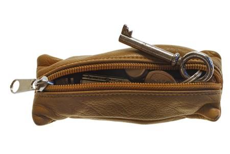 leather key holder with keys, close up Stock Photo - 4371434