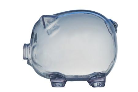 money box in form transparent plastic pig Stock Photo - 4370698