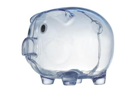 money box in form transparent plastic pig Stock Photo - 4370695