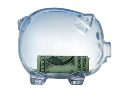 money box in form transparent plastic pig Stock Photo - 4370736