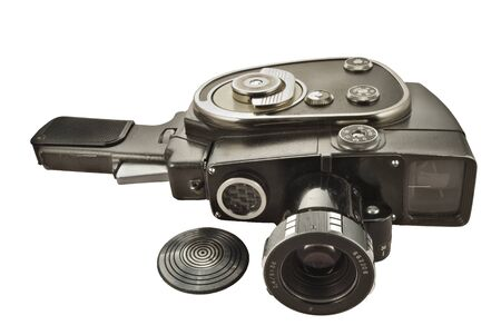 Old movie camera with lens close up Stock Photo - 4371303