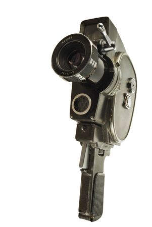 Old movie camera with lens close up Stock Photo - 4370749