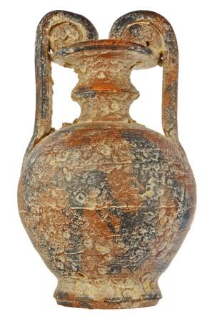 vasi greci: antiche anfore con fiore di sale e gesso in un colore marrone
