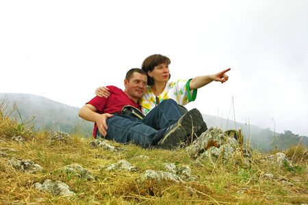we are waited by unexplored prospects. travellers pair    Stock Photo - 4702042
