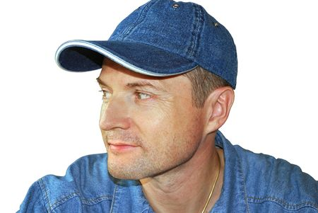 a man is in jean clothes and cap Stock Photo - 4702043