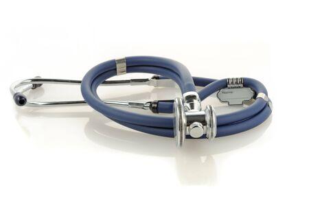 medical instrument phonendoscope on a white surface Stock Photo - 5170745