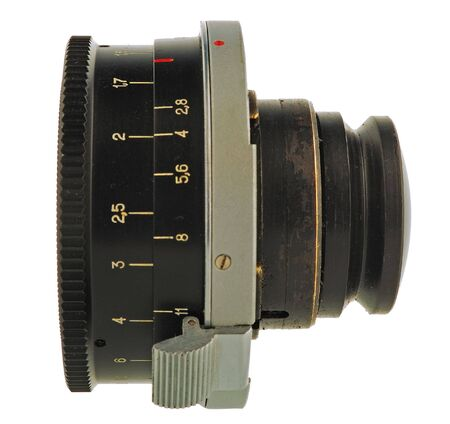 an equipment of old photographer is a lens photo