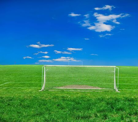 football grass background in light and shadow Stock Photo - 5773555