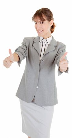 woman in business clothing show OK sign Stock Photo - 6063303