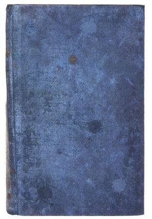 cover art: libro antico, isolato su uno sfondo bianco Archivio Fotografico