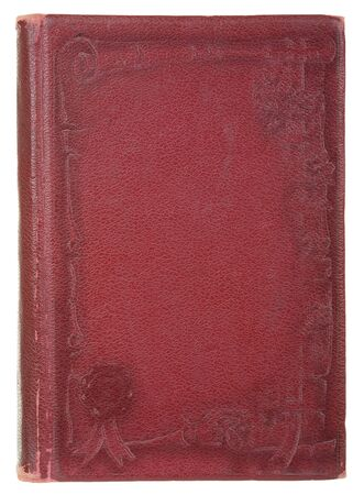 age-old book, isolated on a white background photo
